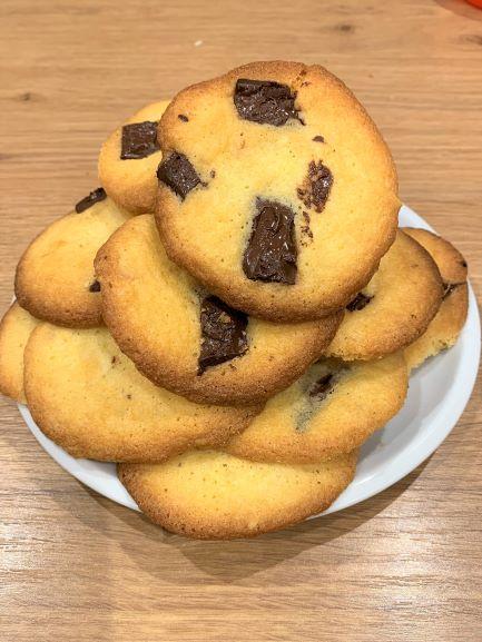Krehké čokoládové cookies