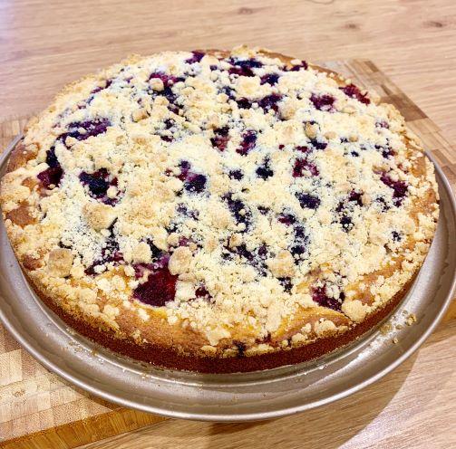 Rýchly ovocný koláč s mrveničkou
