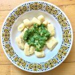 Gnocchi so špenátovo -  kuracou omáčkou